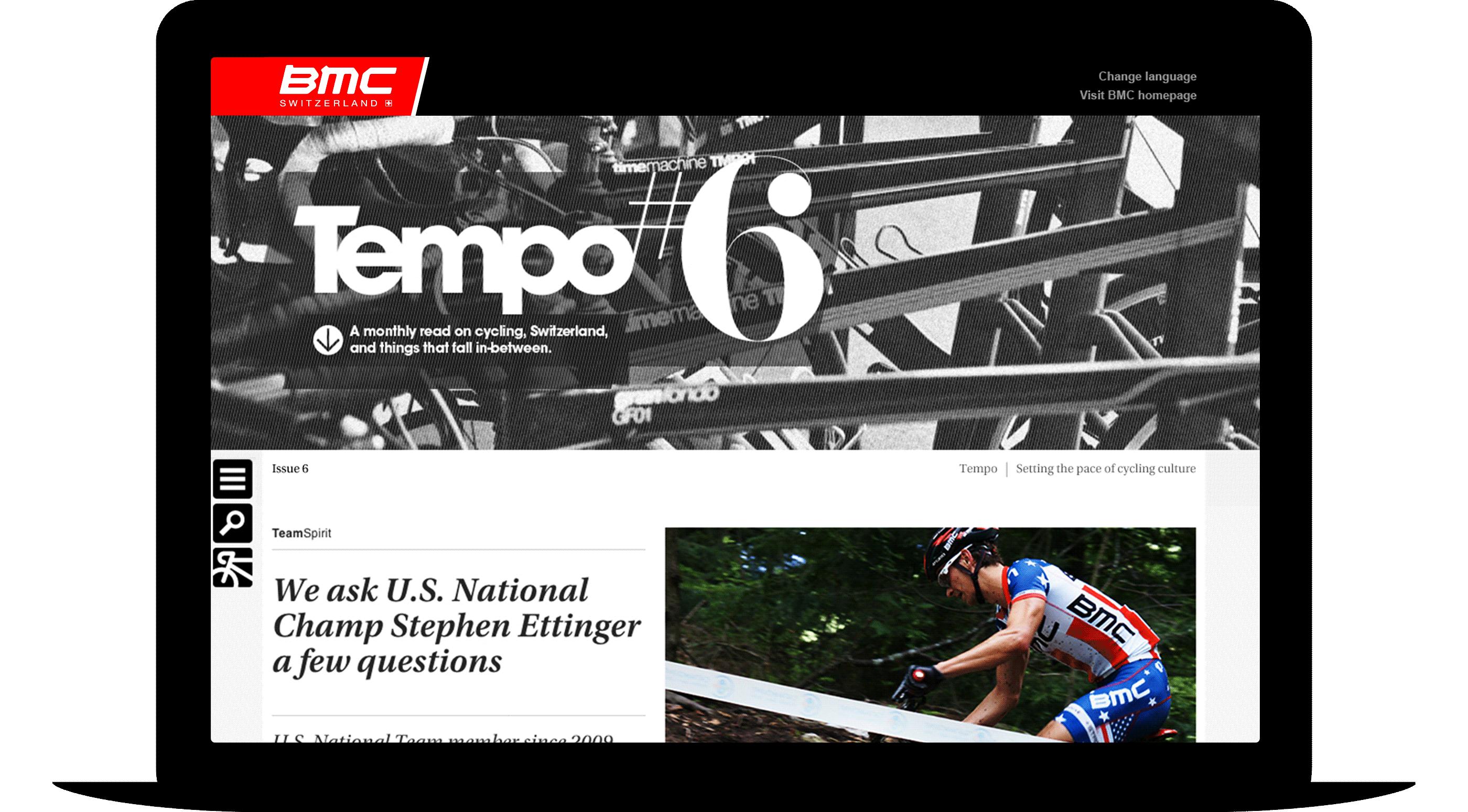 BMC Tempo homepage