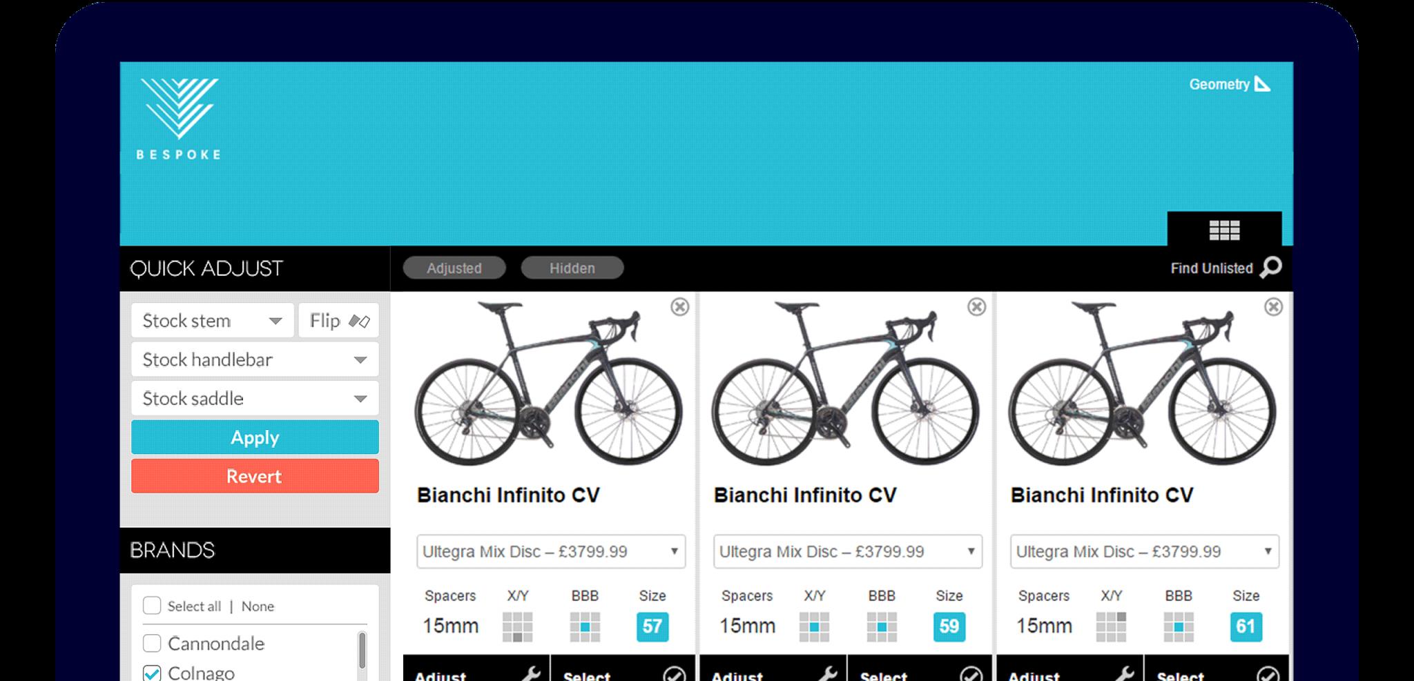 Bespoke 4D fit app