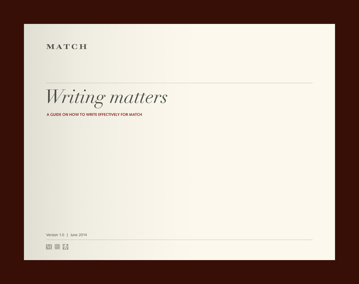 Match Pewter style guide